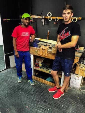 Cecil (bat repairs) and Jason (Sales & Marketing)